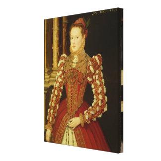 Retrato de una mujer 1567 aceite en el panel impresion en lona