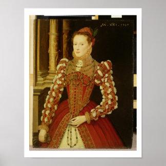 Retrato de una mujer 1567 aceite en el panel posters