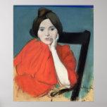 Retrato de una mujer, 1890 póster