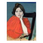 Retrato de una mujer, 1890 tarjetas postales