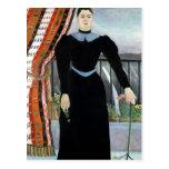 Retrato de una mujer, 1895 postal