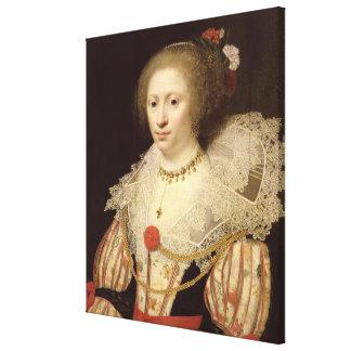 Retrato de una mujer 2 lona envuelta para galerías