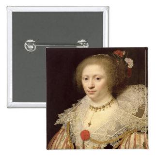 Retrato de una mujer 2 pin cuadrado