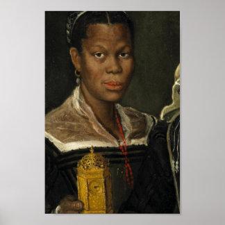 Retrato de una mujer auxiliar africana poster