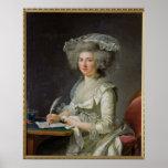 Retrato de una mujer, c.1787 posters