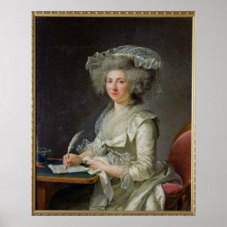 Retrato de una mujer c 1787 posters