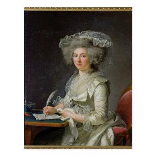 Retrato de una mujer c 1787 tarjetas postales