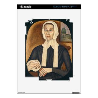 Retrato de una mujer, C. 1845 (aceite en lona) iPad 3 Pegatinas Skins
