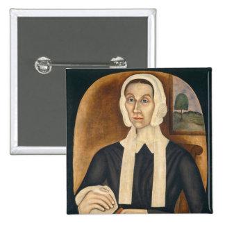 Retrato de una mujer, C. 1845 (aceite en lona) Pin Cuadrada 5 Cm