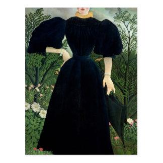 Retrato de una mujer, c.1895-97 tarjeta postal