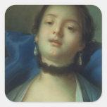 Retrato de una mujer colcomania cuadrada