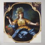 Retrato de una mujer como Minerva, 1730 Póster
