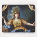 Retrato de una mujer como Minerva, 1730 Tapetes De Raton