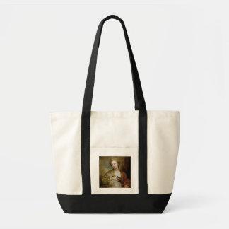 Retrato de una mujer como St. Inés, tradicionalmen Bolsa Tela Impulso