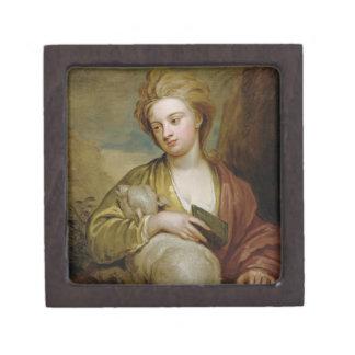 Retrato de una mujer como St. Inés, tradicionalmen Caja De Recuerdo De Calidad