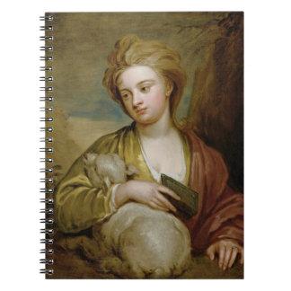 Retrato de una mujer como St. Inés, tradicionalmen Libretas