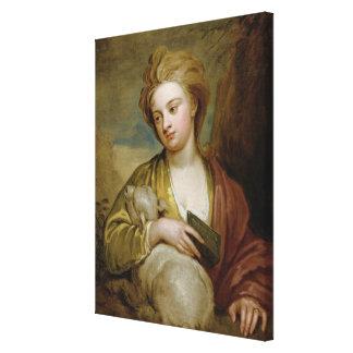 Retrato de una mujer como St. Inés, tradicionalmen Lienzo Envuelto Para Galerías
