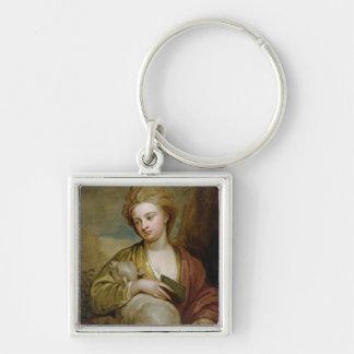 Retrato de una mujer como St. Inés, tradicionalmen Llaveros