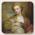 Retrato de una mujer como St. Inés, tradicionalmen Posavaso