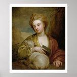 Retrato de una mujer como St. Inés, tradicionalmen Póster