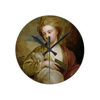 Retrato de una mujer como St. Inés, tradicionalmen Reloj De Pared