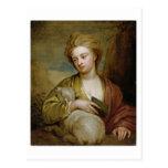 Retrato de una mujer como St. Inés, tradicionalmen Tarjeta Postal