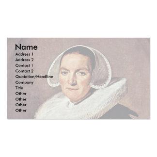 Retrato de una mujer de cerca de cuarenta plantillas de tarjeta de negocio