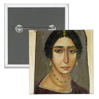 Retrato de una mujer, de Fayum, 1ro-4to siglo Pin Cuadrada 5 Cm