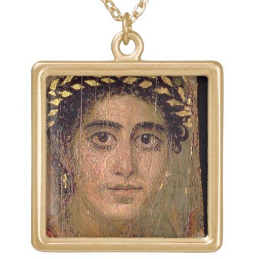 Retrato de una mujer, de Fayum, Romano-Egipcio, Pendiente