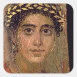 Retrato de una mujer, de Fayum, Romano-Egipcio, Colcomanias Cuadradas