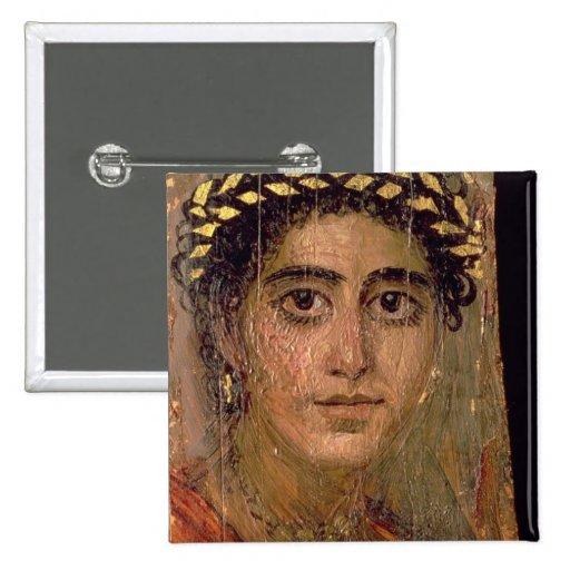 Retrato de una mujer, de Fayum, Romano-Egipcio, Pins