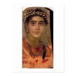Retrato de una mujer, de Fayum, Romano-Egipcio, Tarjeta Postal