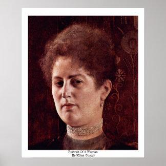 Retrato de una mujer de Klimt Gustavo Posters