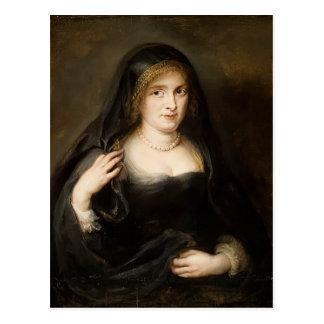 Retrato de una mujer de Peter Rubens Tarjetas Postales