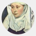 Retrato de una mujer de Robert Campin Etiquetas