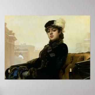 Retrato de una mujer desconocida, 1883 impresiones