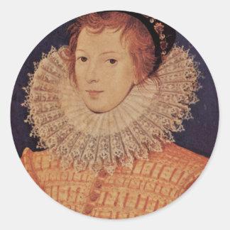 Retrato de una mujer desconocida de Nicholas Pegatina Redonda
