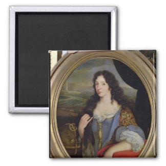 Retrato de una mujer docta desconocida en frente imanes de nevera