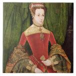 Retrato de una mujer, envejecido 16, previamente i azulejo cuadrado grande