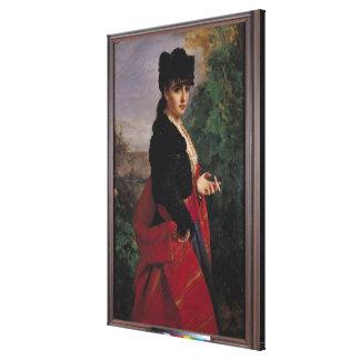Retrato de una mujer española impresion de lienzo