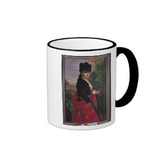 Retrato de una mujer española tazas de café