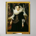 Retrato de una mujer holandesa joven póster