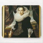 Retrato de una mujer holandesa joven tapetes de raton