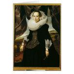 Retrato de una mujer holandesa joven tarjeta de felicitación