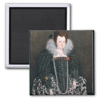 Retrato de una mujer, identificado tradicionalment imán para frigorífico