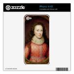 Retrato de una mujer, identificado tradicionalment iPhone 4S skins