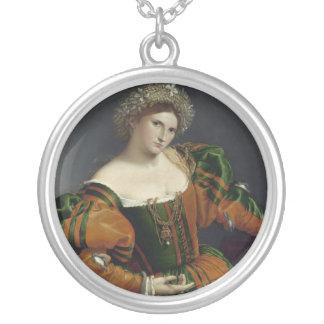 Retrato de una mujer inspirada por el collar de