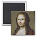 Retrato de una mujer inspirada por la Mona Lisa Imanes