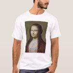 Retrato de una mujer inspirada por la Mona Lisa Playera