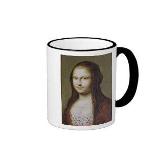 Retrato de una mujer inspirada por la Mona Lisa Taza De Café
